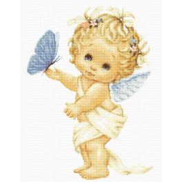 LS B368 Cross stitch kit - Angel and butterfly