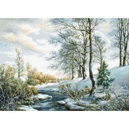LS B586 Cross stitch kit - Winter landscape