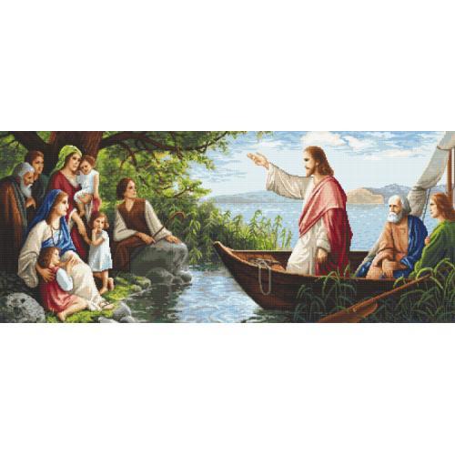 Cross stitch pattern - Listening to Jesus