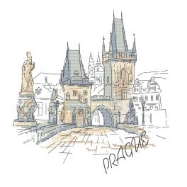 Cross stitch kit - Prague - Charles Bridge