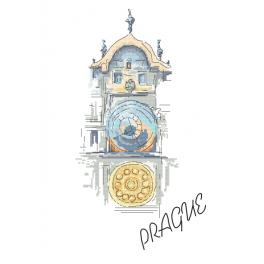 Z 10407 Cross stitch kit - Old Town Astronomical Clock in Prague