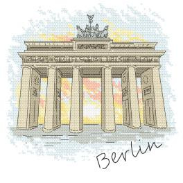 Cross stitch kit - Berlin - Brandenburg Gate
