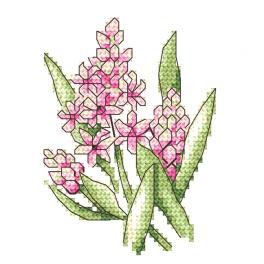 GC 10254 Cross stitch pattern - Pink hyacinths