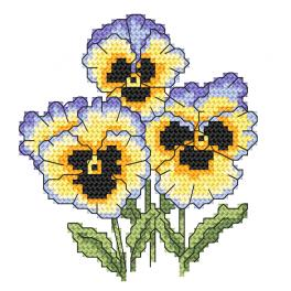 GC 10253 Cross stitch pattern - Rococo pansies