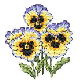 Cross stitch kit - Rococo pansies