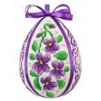 W 10605 Pattern online - Easter egg with violets