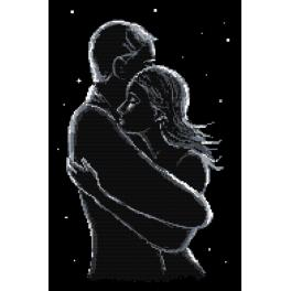 Cross stitch pattern - Lovers at night