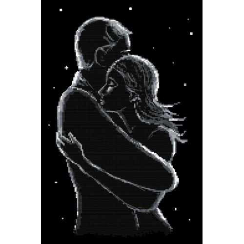 Cross stitch kit - Lovers at night