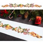 Cross Stitch pattern - Long Christmas table runner