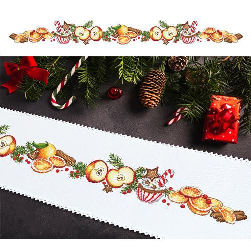 ONLINE pattern - Long Christmas table runner