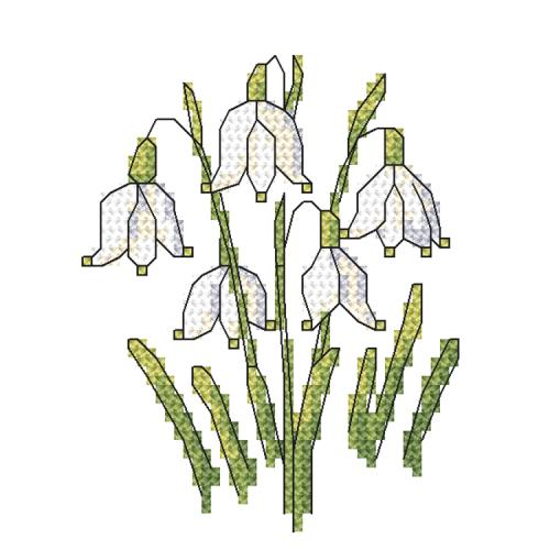 W 10257 ONLINE pattern - Spring snowdrop
