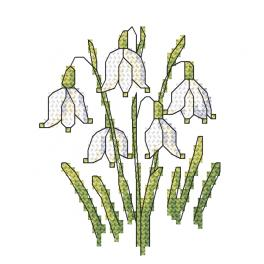 GC 10257 Cross stitch pattern - Spring snowdrop