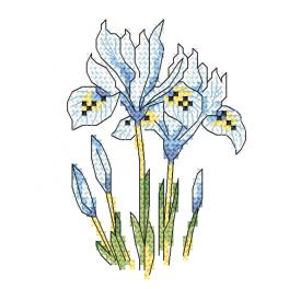 Cross stitch kit - Subtle irises
