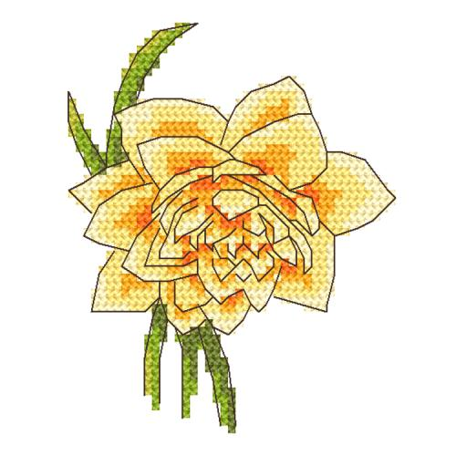 GC 10255 Cross stitch pattern - Daffodil