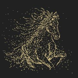 Graphic pattern - Starry horse