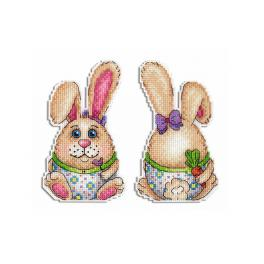 Cross stitch kit - Pendant - Easter bunny