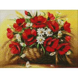 Diamond painting kit - Poppies in the vase
