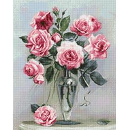 WD2454 Diamond painting kit - Roses on the marble table