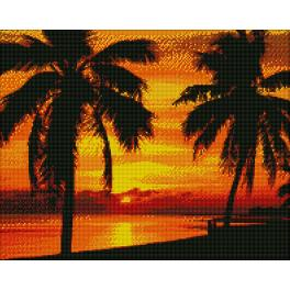Diamond painting kit - Palms at sunset