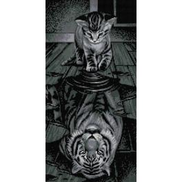 Diamond painting kit - Tiger inside