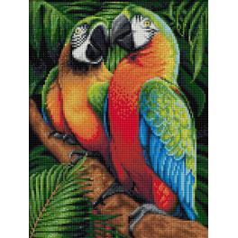 Diamond painting kit - Parrots in the jungle