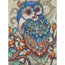 Diamond painting kit - Blue owl