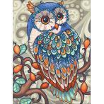 M AZ-1607 Diamond painting kit - Blue owl