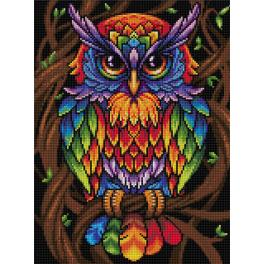 Diamond painting kit - Rainbow owl