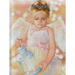 Diamond painting kit - Angel with lantern