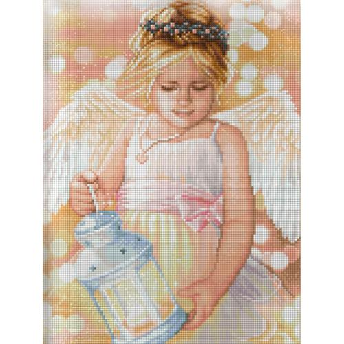 M AZ-1780 Diamond painting kit - Angel with lantern