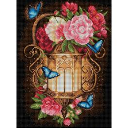 Diamond painting kit - Lantern and peonies