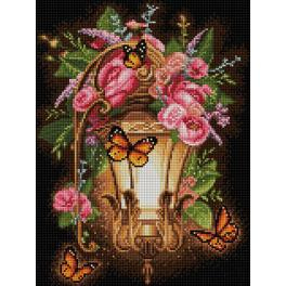 Diamond painting kit - Lantern and dogrose