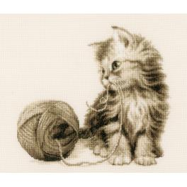 VPN-0162378 Cross stitch kit - Kitten