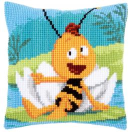 VPN-0161578 Cross stitch kit - Pillow - Willy on waterlily