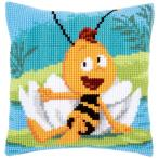 Cross stitch kit - Pillow - Willy on waterlily