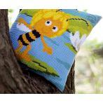 Cross stitch kit - Pillow - Maya on waterlily