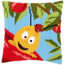VPN-0156385 Cross stitch tapestry kit - Cushion - Willy on apple