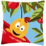 Cross stitch kit - Pillow - Willy on apple