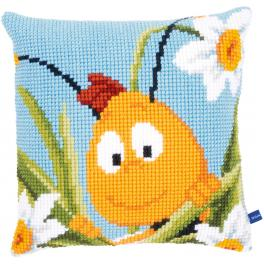 Cross stitch kit - Pillow - Willy in the daffodils