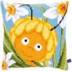Cross stitch kit - Pillow - Maya in the daffodils