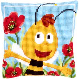 Cross stitch kit - Pillow - Willy in the poppies
