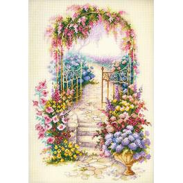 MN 110-001 Cross stitch kit - Entrance to the garden