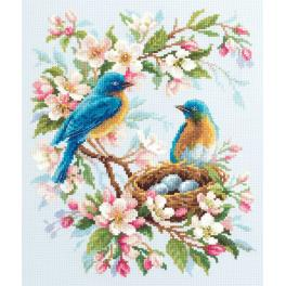 MN 130-041 Cross stitch kit - Spring song