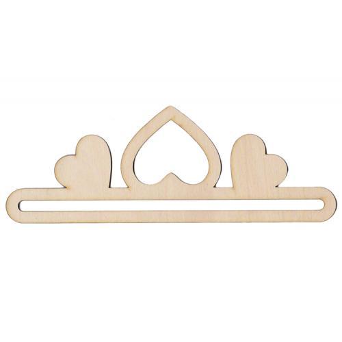 Wooden hanger 20cm coat hearts