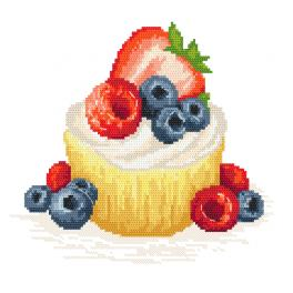 K 10421 Tapestry canvas - Fruit cookie