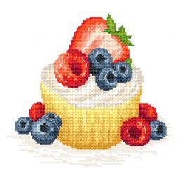 Z 10421 Cross stitch kit - Fruit cookie