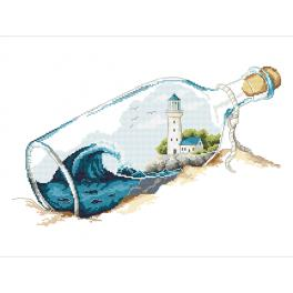 Cross stitch kit - Memories in a bottle