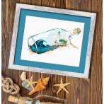 Cross stitch kit - Memories in a bottle
