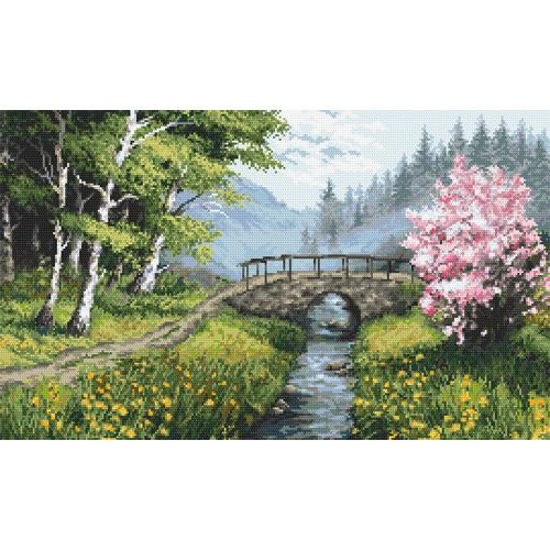 AN 10267 Tapestry Aida - Spring landscape