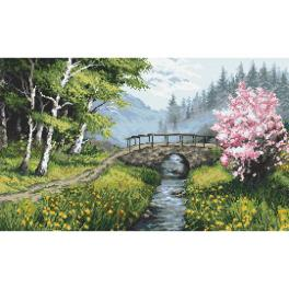 ZN 10267 Cross stitch kit with tapestry - Spring landscape
